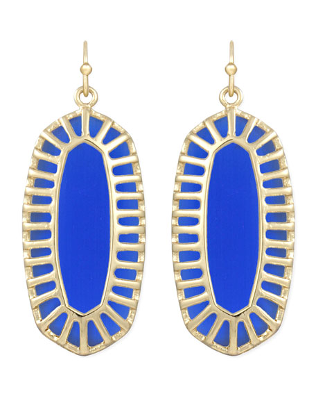 Dayla Small Drop Earrings, Cobalt