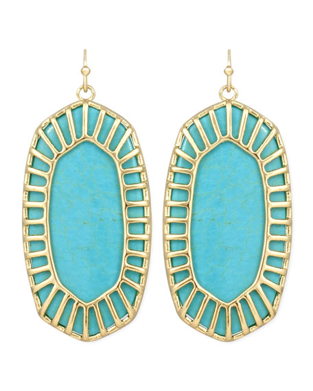 Delilah Large Drop Earrings, Turquoise