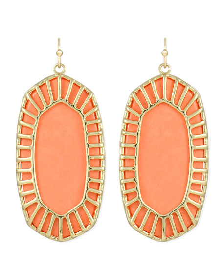Delilah Large Drop Earrings, Salmon