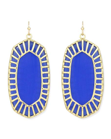Delilah Large Drop Earrings, Cobalt