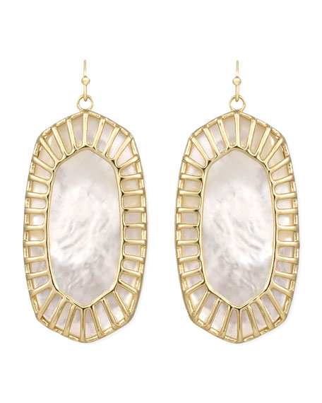 Delilah Large Drop Earrings, Pearl