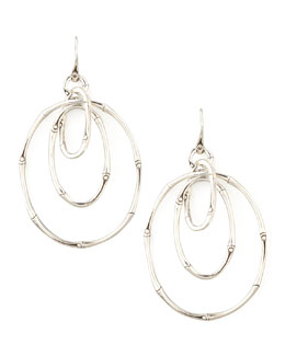 John Hardy Bamboo Silver Linked Drop Earrings