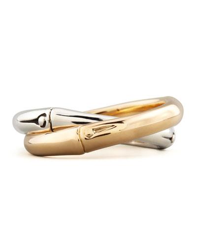 John Hardy Bamboo Gold & Silver Interlocking Band Ring