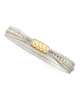 John Hardy Bedeg Gold-Station Bracelet, 10mm