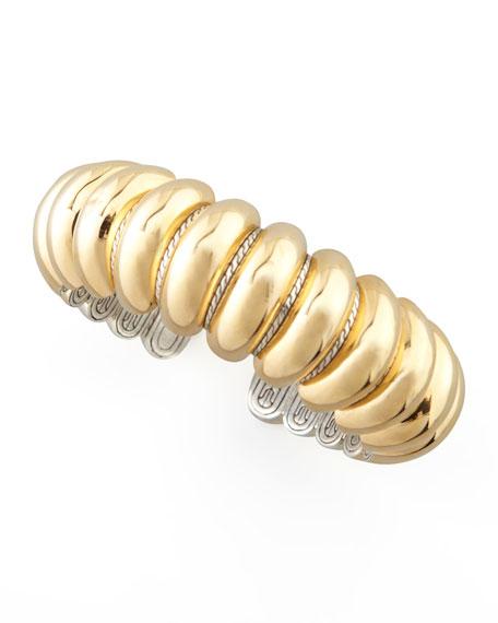 Slim Bedeg Gold-Plate & Silver Cuff
