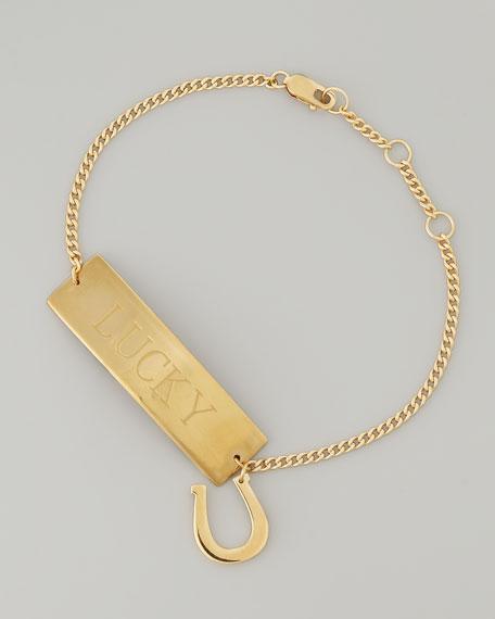 Lucky Gold Vermeil ID Bracelet