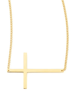 "Jennifer Zeuner Integrated Cross Necklace, 16-20""L"