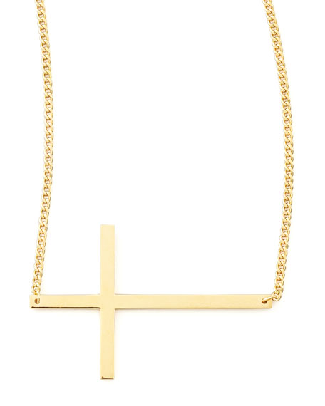 "Integrated Cross Necklace, 16-20""L"