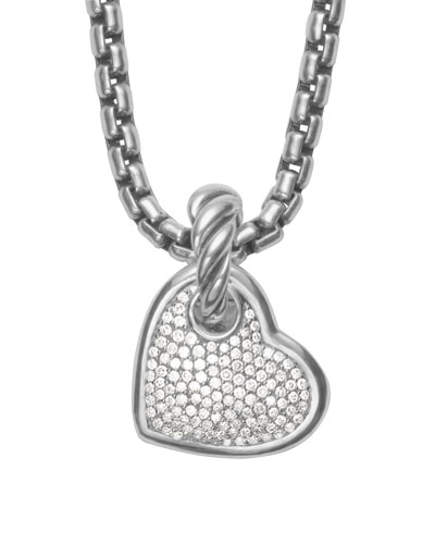 David Yurman Cable Heart Pendant with Diamonds