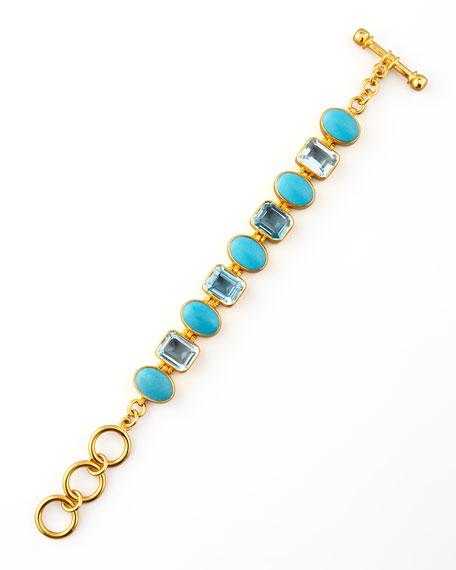 Turquoise & Blue Topaz Bracelet