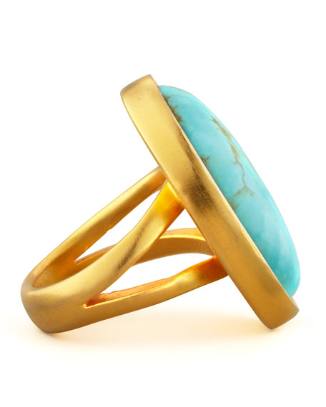 Dina Mackney Oval Turquoise Ring
