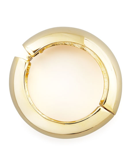 Convex Hinged Golden Bangle
