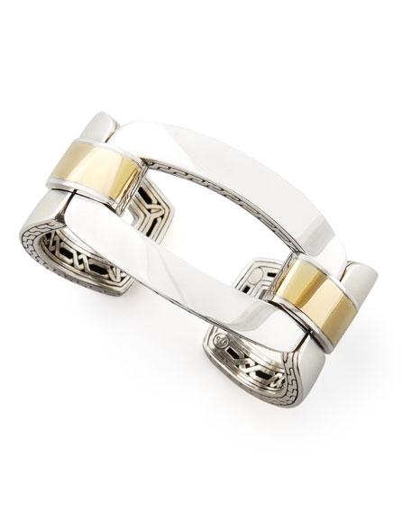 Classic Chain Gold & Silver Link Cuff