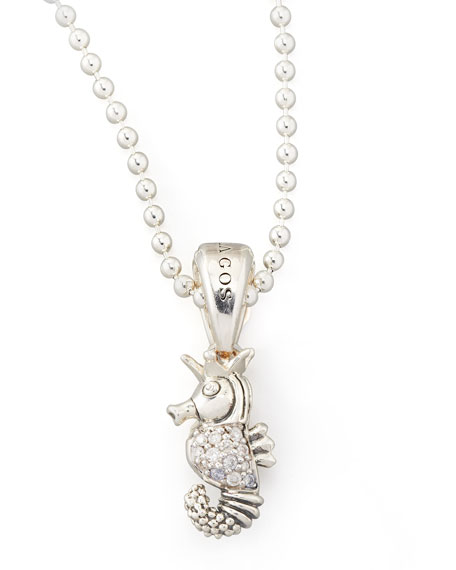 Rare Wonders Diamond Seahorse Pendant Necklace