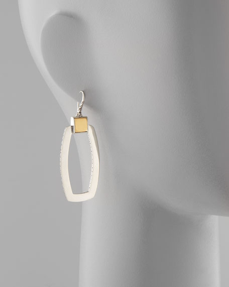 Classic Chain Link Long Drop Earrings