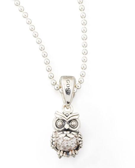 Rare Wonders Diamond Owl Pendant Necklace