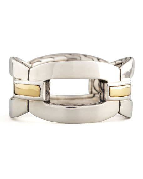 Classic Chain Gold & Silver Link Band Ring