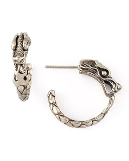 John Hardy Naga Silver Small Hoop Earrings