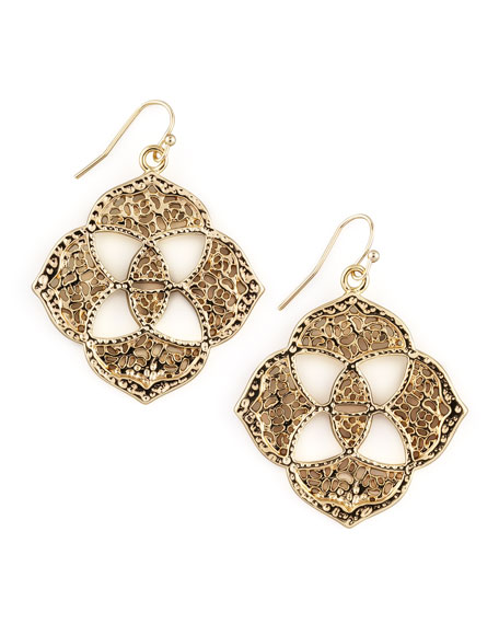 Dawn Logo Earrings, Gold