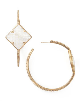 Stephen Dweck Mother-of-Pearl Clover Hoop Earrings
