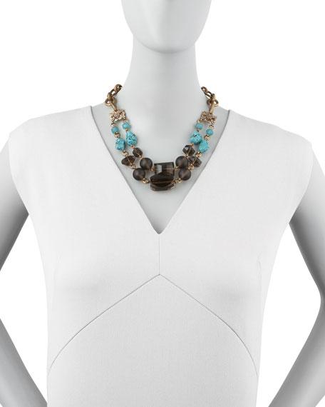 Turquoise & Smoky Quartz Necklace