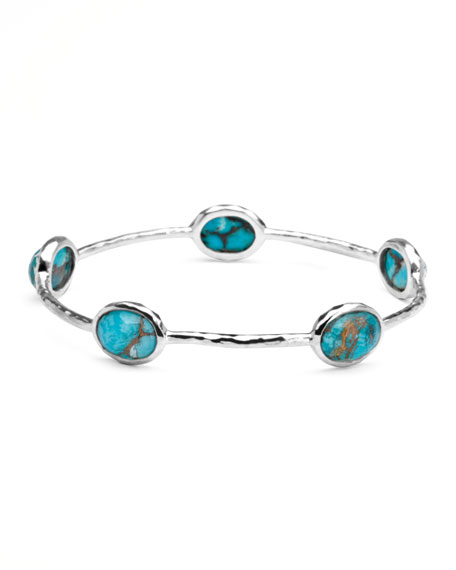 Five-Station Round Turquoise Bangle