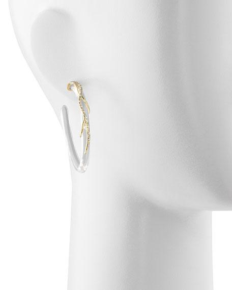 Ophelia Vine Hoop Earrings, Clear