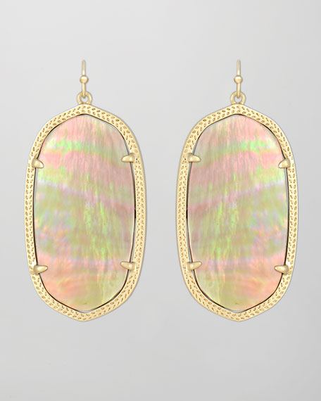 Danielle Earrings, Brown Mother-of-Pearl