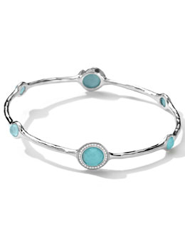Ippolita Stella Bangle in Turquoise Double with Diamonds