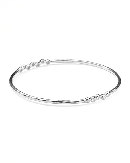 Sterling Silver 2-Station Diamond Bangle