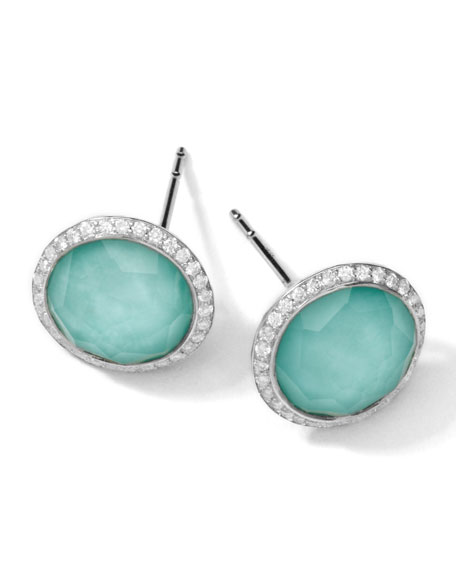 IppolitaStella Stud Earrings in Turquoise Double with Diamonds