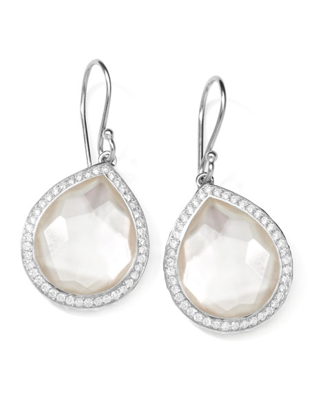 Ippolita Stella Teardrop Earrings in Mother-of-Pearl Doublet with