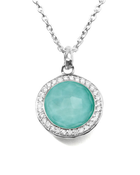 Ippolita Stella Lollipop Pendant Necklace in Turquoise Doublet