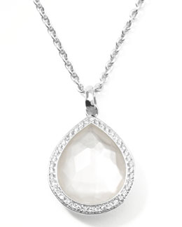 Ippolita Stella Teardrop Pendant Necklace in Mother-of-Pearl with Diamonds