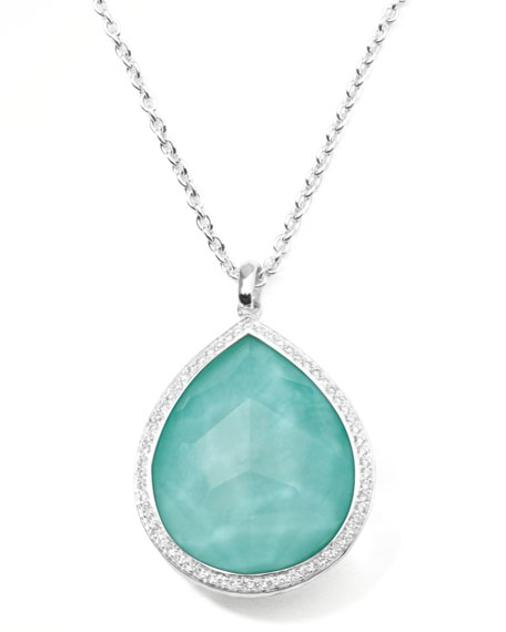 Ippolita Stella Large Teardrop Pendant Necklace in Turquoise