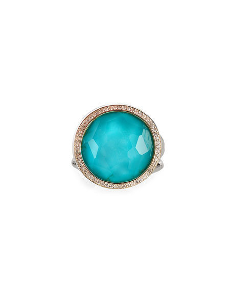 Ippolita Stella Lollipop Ring in Turquoise Doublet with