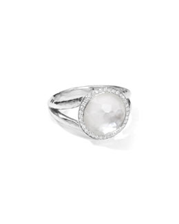 Ippolita Stella Mini Lollipop Ring in Mother-of-Pearl Doublet with Diamonds, 0.15