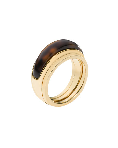 Two-Piece Ring, Golden/Tortoise
