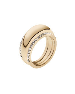 Michael Kors  Pave-Insert Ring, Golden