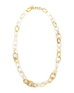 Ashley Pittman Light Horn Link Necklace