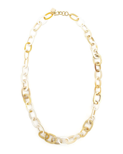 Ashley Pittman Light Horn Link Mara Necklace