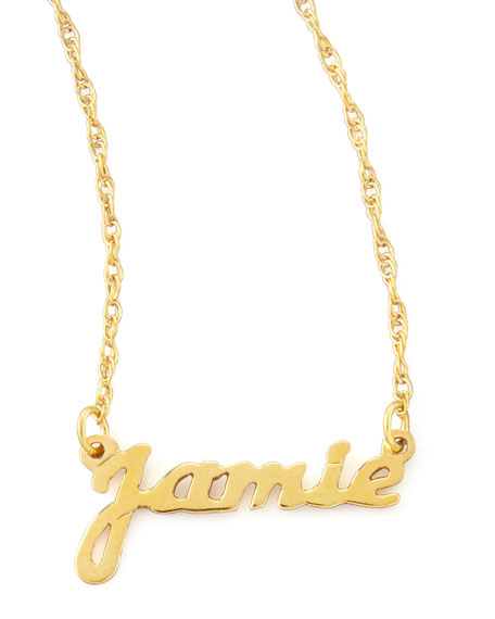 Moon and lola personalized gold name pendant necklace aloadofball