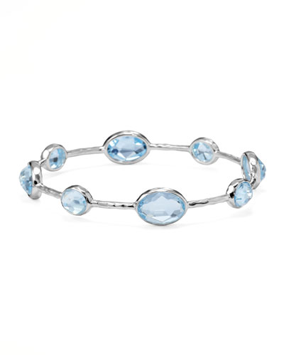 Ippolita Sterling Silver Rock Candy 8-Stone Bangle, Blue Topaz