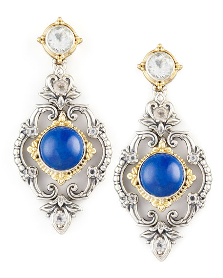 Lapis Chandelier Drop Earrings