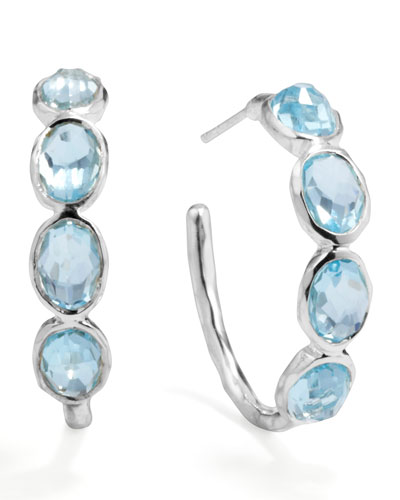 Ippolita Silver Blue Topaz Hoop Earrings