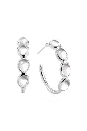Ippolita Rock Candy Silver Four-Stone #2 Hoop Earrings, Clear Quartz