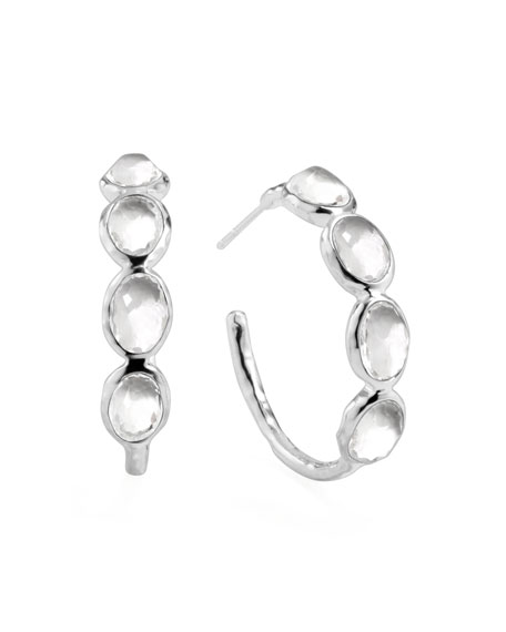 Ippolita Rock Candy Silver Four-Stone #2 Hoop Earrings,