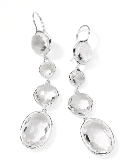 Rock Candy Clear Quartz Drop Earrings