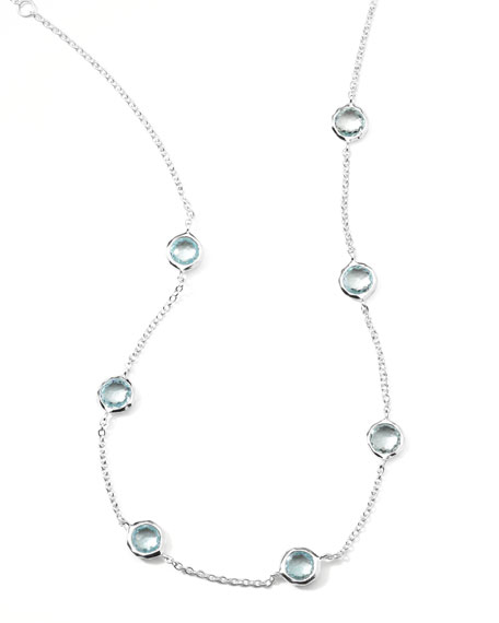 Seven-Station Lollipop Topaz Necklace