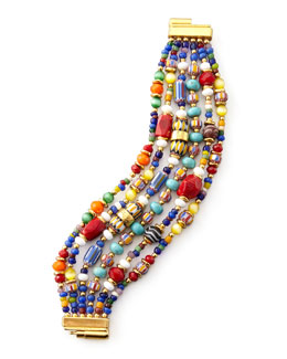 Jose & Maria Barrera Multicolor Beaded Bracelet